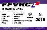 FFVRC - Tarif licences FFVRC 2018 Pn17
